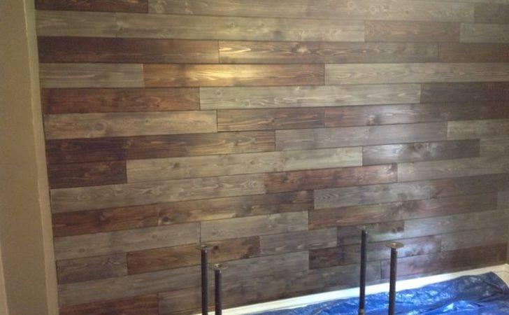 Wood Wall Using Cedar Fencing Burn Torch Bring