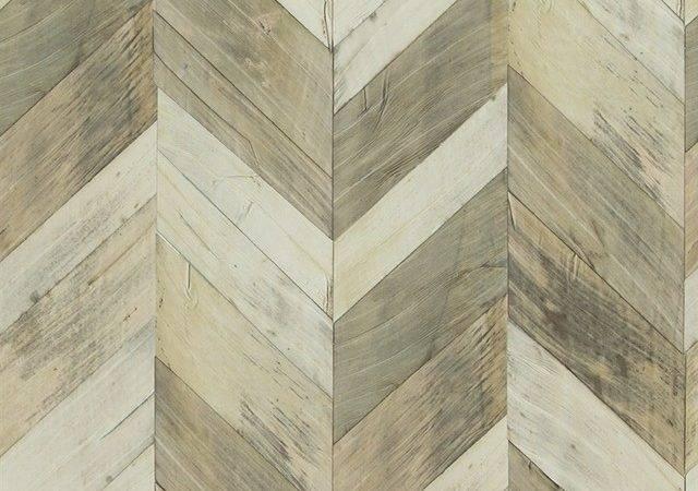 Wood Weathered Herringbone Contemporary