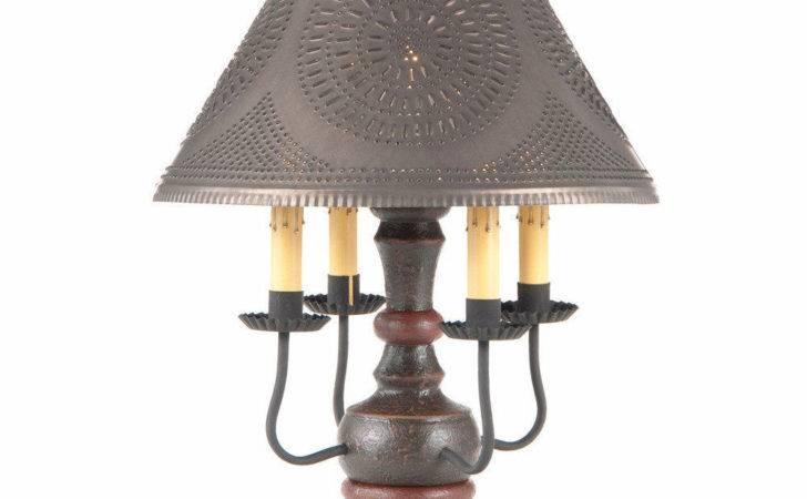Wood Wrought Iron Lamp Candelabra Table Light Ornate