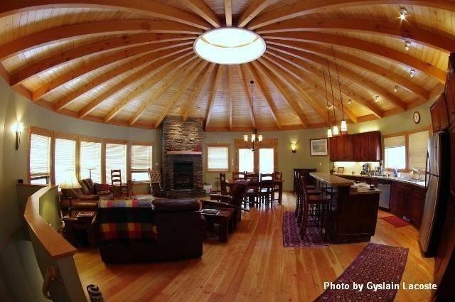Wood Yurt Interior Small Round Homes Pinterest Circles Yurts