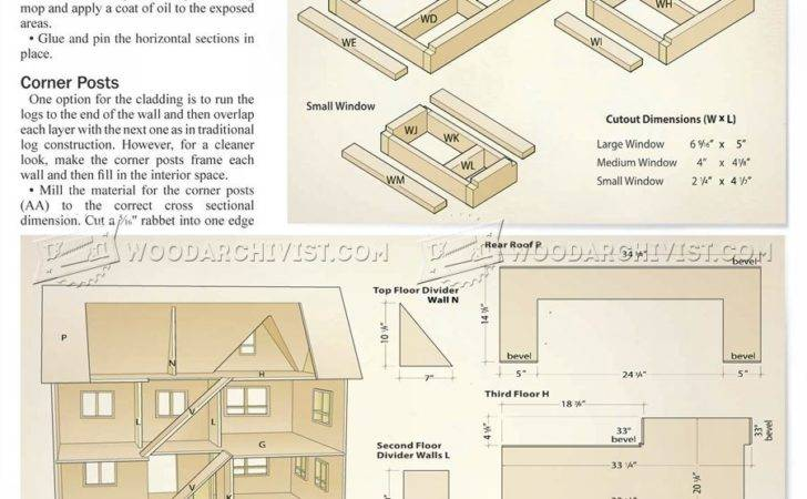 Wooden Barbie Doll House Plans