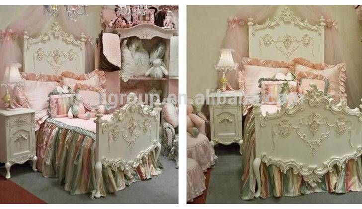 Wooden Beds Kids Hand Carved Princess Bed Luxury Children