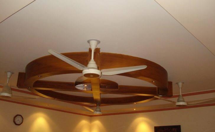 Wooden Ceiling Design Fan Gharexpert