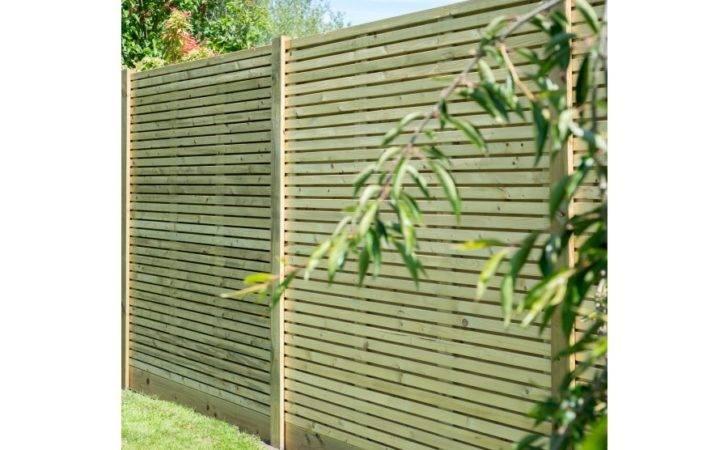 Wooden Contemporary Garden Fence Panel Grange