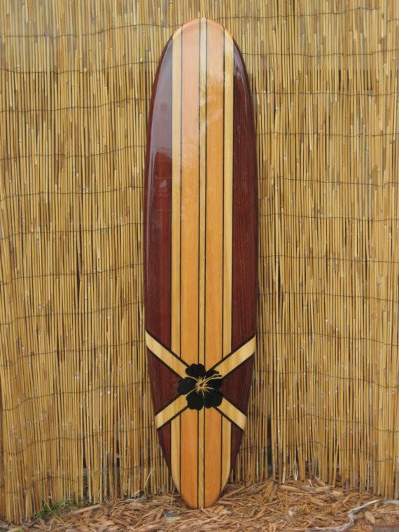 Wooden Decorative Surfboard Wall Art Hanging Beach Decor