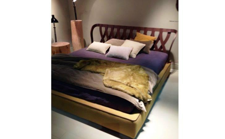 Wooden Double Bed Natural Twils Design Meneghello Paolelli