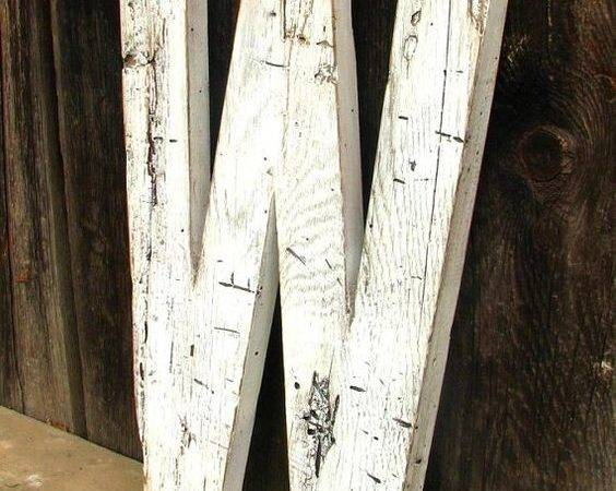 Wooden Letters Rustic Wood Barn Salvaged Distressed