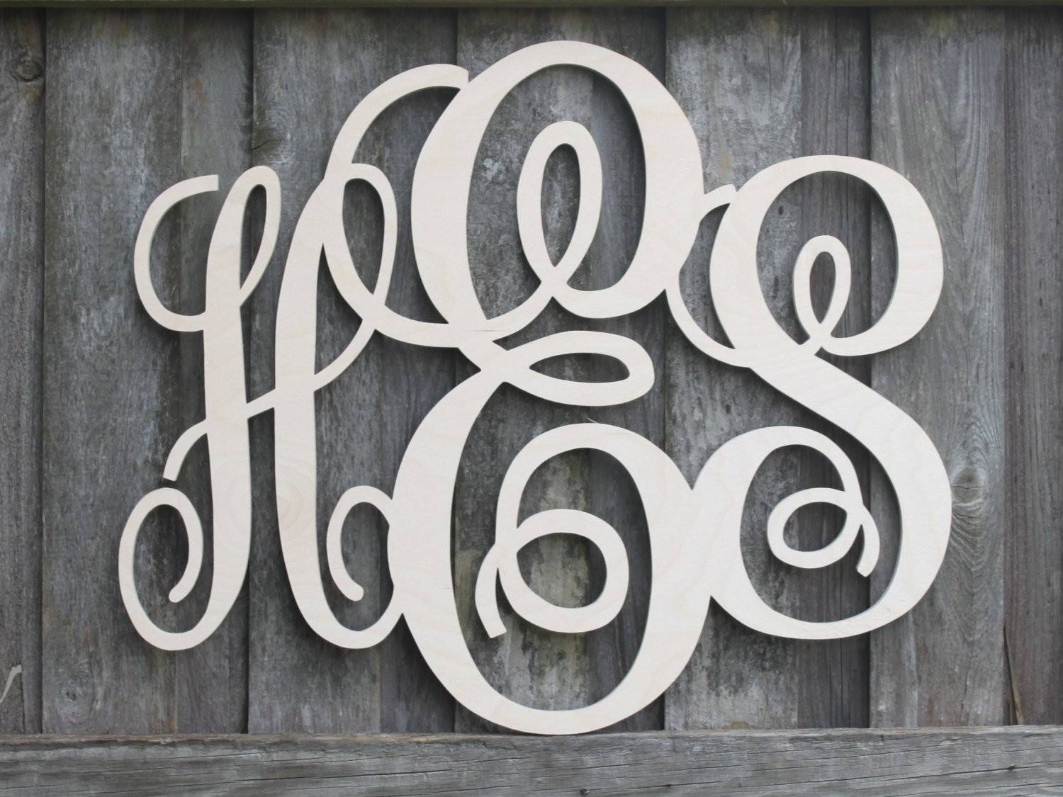 Wooden Monogram Letters All Sales Support Our Kidbizletters