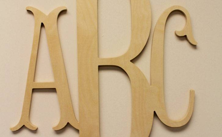 Wooden Monogram Unpainted Wood Letters