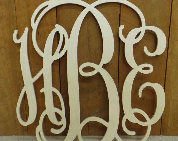 Wooden Monogram Wall Hanging Wedding Letterworld
