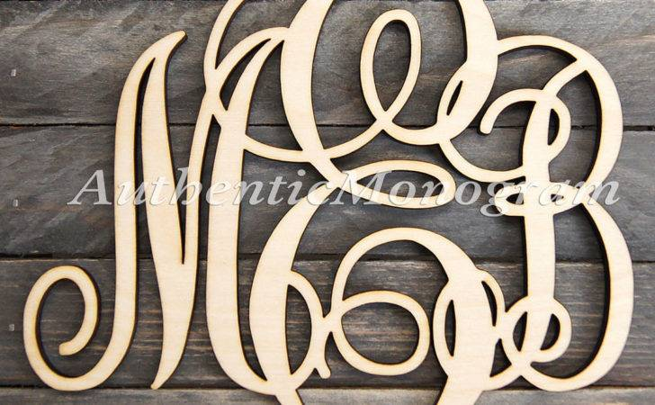 Wooden Monogram Wall Letters Unpainted Monogramcustomart
