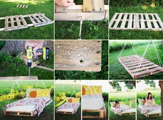 Wooden Pallet Swing Bed Post