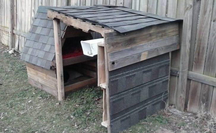 Wooden Pallet Two Story Dog House Furniture Diy