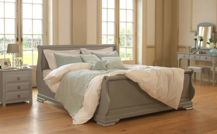 Wooden Sleigh Bed Camargue Reival Beds