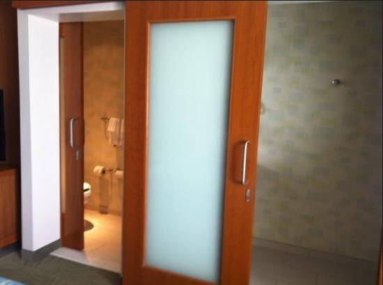 Wooden Sliding Bathroom Doors Small Spaces Frosted Glass