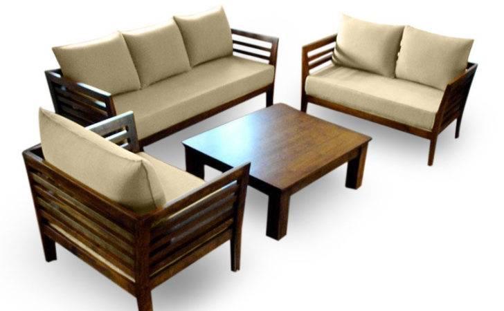 Wooden Sofa Set Seater Hki