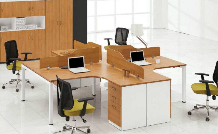 Wooden Tabletop Low Partition People Office Desk Design