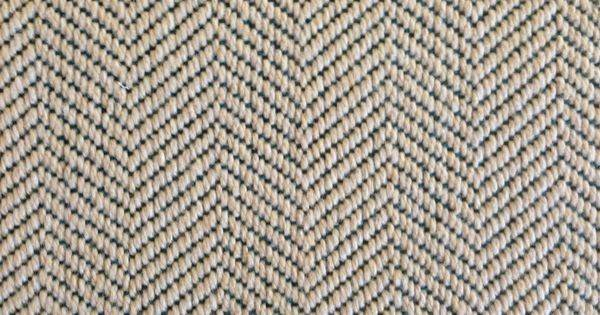 Wool Carpet Remnant Herringbone Pattern