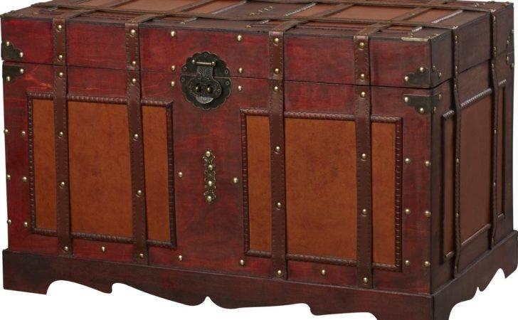 World Menagerie Zemrane Antique Style Steamer Trunk
