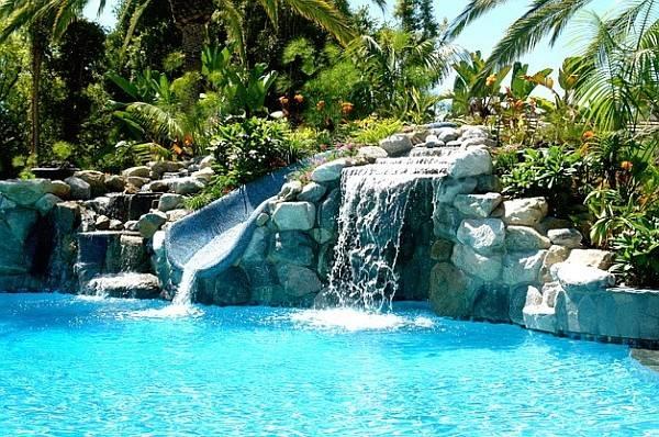Worlds Coolest Backyard Pool Design Fun Feature