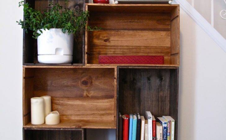 Worst Dinner Guest Diy Vintage Wine Crate Bookshelf