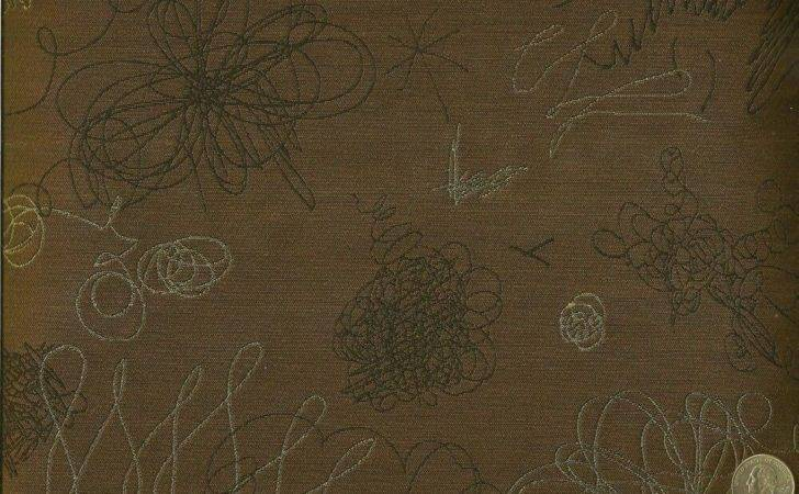 Woven Scribble Chestnut Brown Modern Contemporary