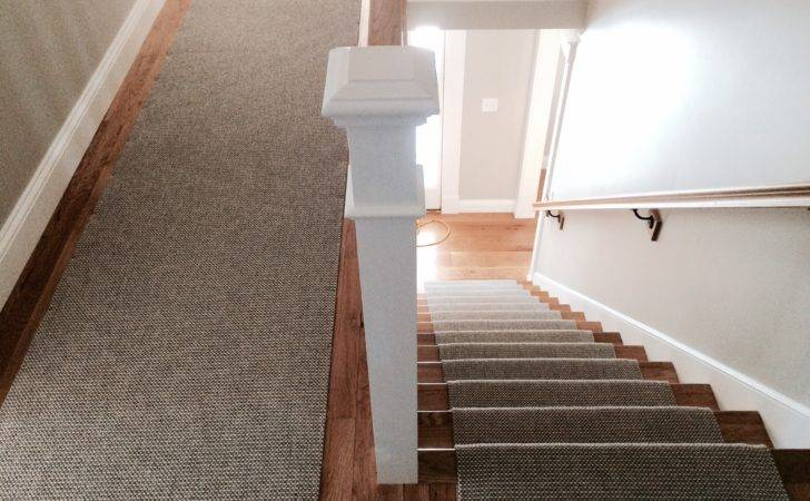 Woven Wool Stair Runner Fabricated Using Fold Stitch