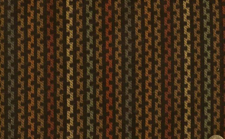 Woven Zigzag Chain Black Multi Stripe Modern Contemporary