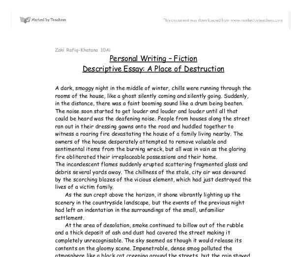 Writing Descriptive Essay Place