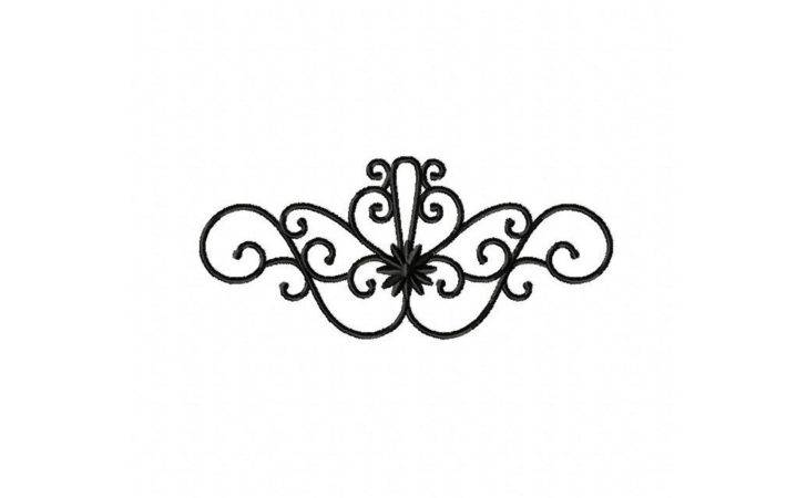 Wrought Iron Design Machine Embroidery Daily