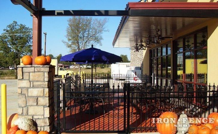 Wrought Iron Fence Aluminum Restaurants Outdoor