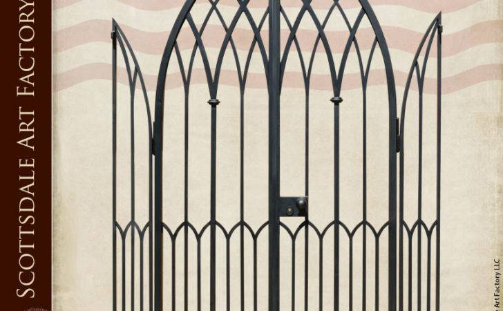 Wrought Iron Gate Custom Entrance Gothic Arch Design