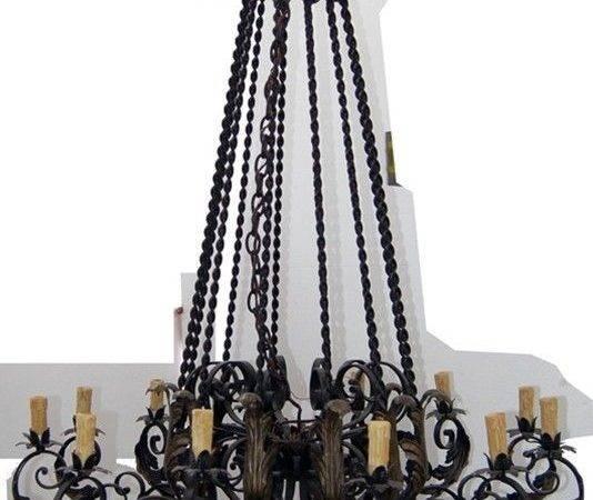 Wrought Iron Mediterranean Chandelier Ebay