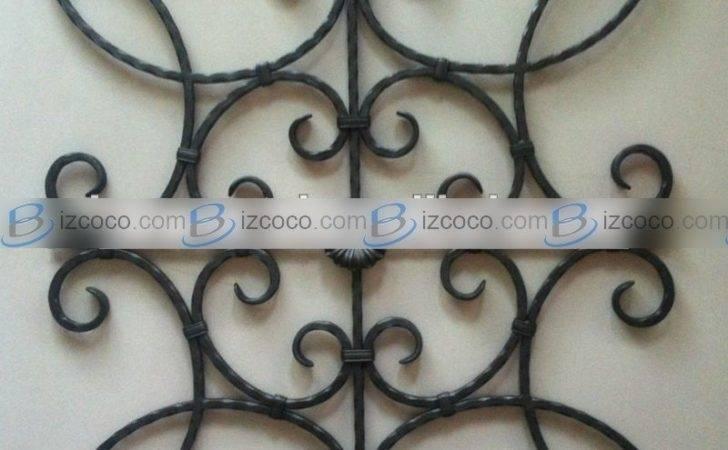 Wrought Iron Ornamental Designs Gate Window