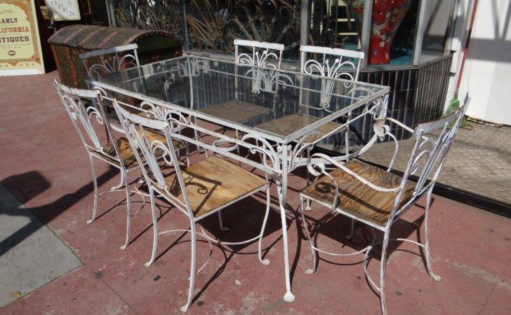 Wrought Iron Outdoor Patio Furniture Early California Antiques