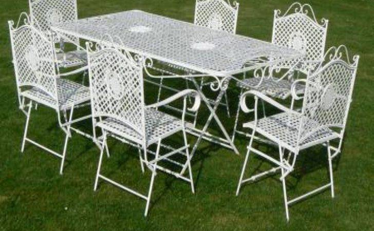 Wrought Iron Patio Tables White Furniture