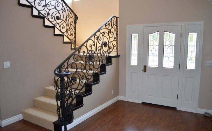 Wrought Iron Staircase Design Addition Balusters