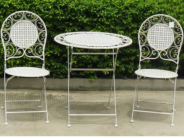 Wrought Iron White Outdoor Antique Furniture