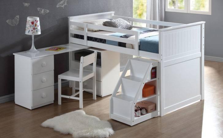 Wyatt White Finish Twin Loft Bed Overstock Shopping