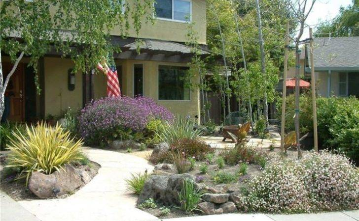 Xeriscape Front Yard Patio Curb Appeal Pinterest