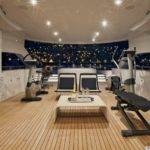 Yacht Interior Photos While Working Out