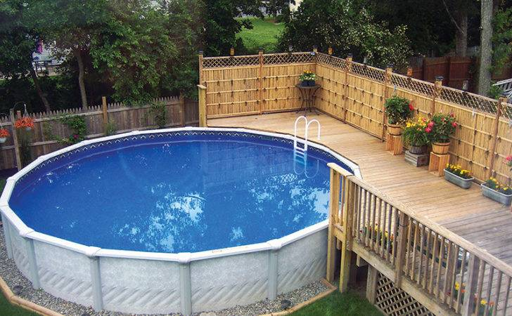 Yard Above Ground Pools Back Ideas Small Yards