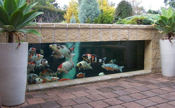 Yard Cabana Ideas Outdoor Living Well Koi Fish Pond Design