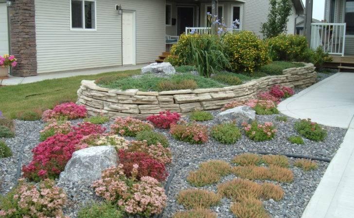 Yard Rock Wall Perennial Beds Creative Landscape Design