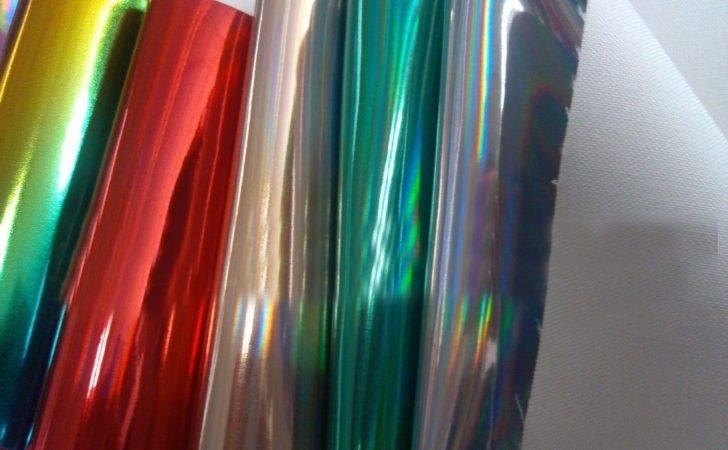 Yards Lot Laser Holographic Leather Orange Fabric
