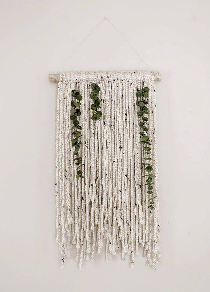 Yarn Wall Hanging Pinterest Hangings Yarns Woven