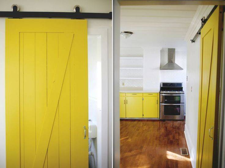 Yellow Barn Door Kitchen Things Home Dining