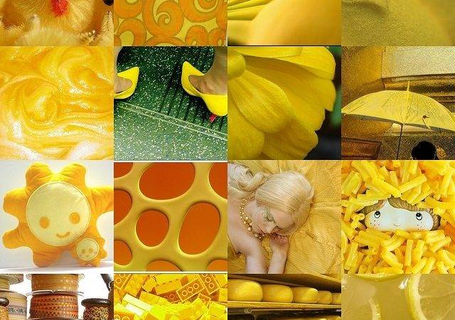 Yellow Collage Pinterest