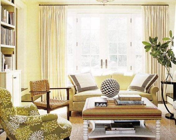 Yellow Couch Cottage Living Room