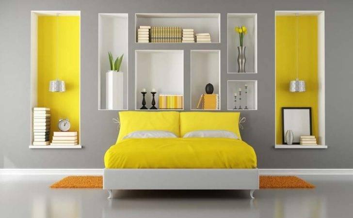 Yellow Gray Bedroom Grey Bedrooms Textural Quilt